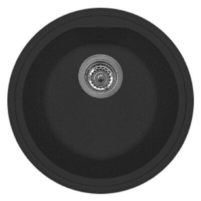 Atlantic 17 x 14 Series Single Basin Round Drop Kitchen Sink Finish: Matt Black