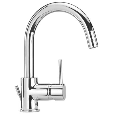 Elba  Lavatory Faucet Single Handle Finish: Chrome