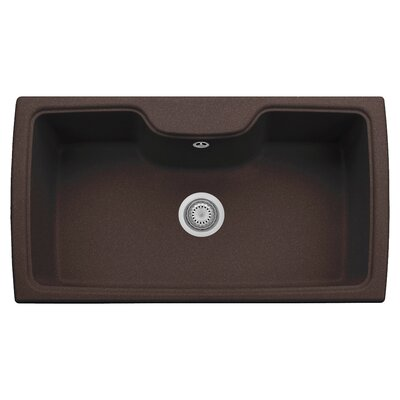 35 x 20 Drop-In Kitchen Sink Finish: Brown