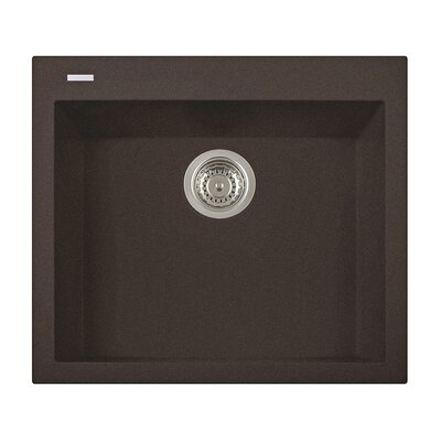 20 x 23 Drop-In Kitchen Sink Finish: Brown