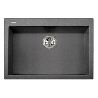 30 x 8 Drop-In Kitchen Sink Finish: Titanium