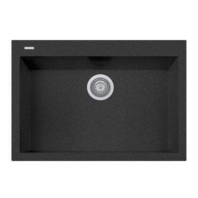 30 x 8 Drop-In Kitchen Sink Finish: Black
