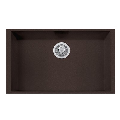 30 x 8 Undermount Kitchen Sink Finish: Brown