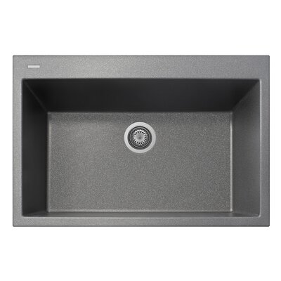 33 x 10 Drop-In Kitchen Sink Finish: Titanium