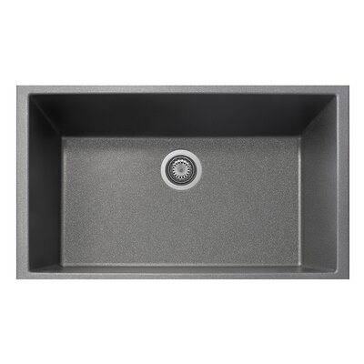 33 x 10 Undermount Kitchen Sink Finish: Titanium
