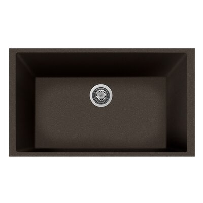 33 x 10 Undermount Kitchen Sink Finish: Brown