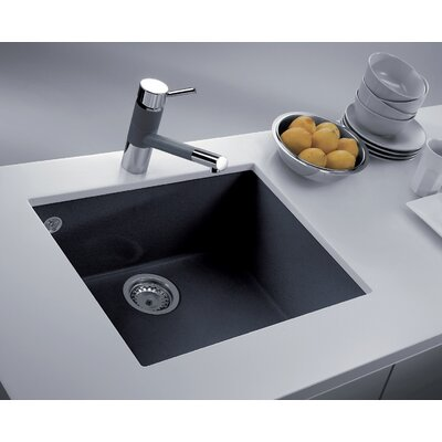 23 x 8 Undermount Kitchen Sink Finish: Black