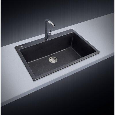 33 x 10 Drop-In Kitchen Sink Finish: Black