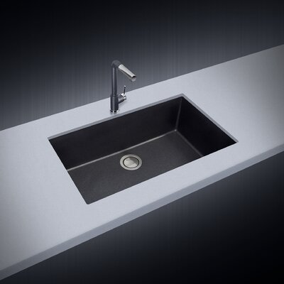 33 x 10 Undermount Kitchen Sink Finish: Black