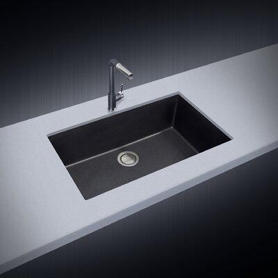 33 x 10 Undermount Kitchen Sink Finish: Black