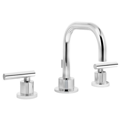 Dia Double Handle Triple Mount Widespread Faucet Finish: Chrome, Flow Rate: 2.2 GPM