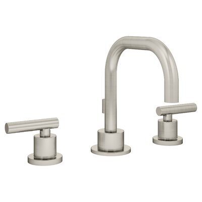 Dia Double Handle Triple Mount Widespread Faucet Flow Rate: 2.2 GPM, Finish: Satin Nickel