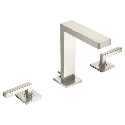 Duro Double Handle Triple Mount Widespread Faucet Flow Rate: 1.5 GPM, Finish: Satin Nickel