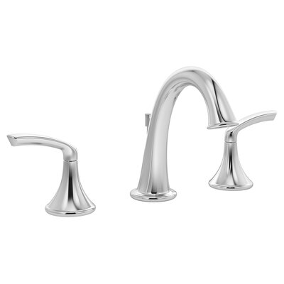 Elm Double Handle Triple Mount Faucet Finish: Chrome, Flow Rate: 1.5 GPM