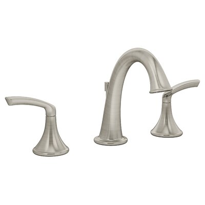 Elm Double Handle Triple Mount Faucet Flow Rate: 1.5 GPM, Finish: Satin Nickel