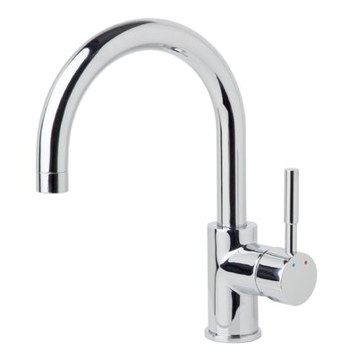Dia Single Handle Single Mount Faucet with Rigid/Swivel Spout Finish: Chrome, Flow Rate: 1.5 GPM