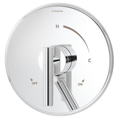 Dia Pressure Balance Shower Valve with Lever Handle Finish: Chrome