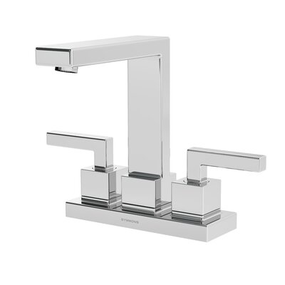 Duro Double Handle Centerset Faucet Finish: Chrome