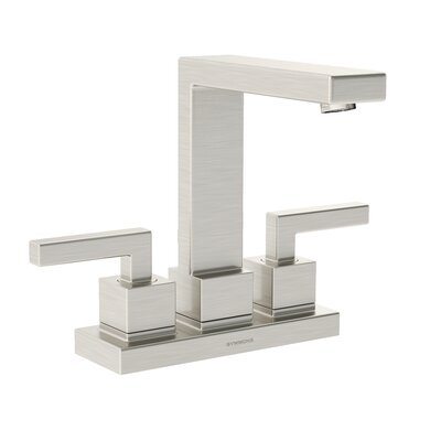 Duro Double Handle Centerset Faucet Finish: Satin Nickel