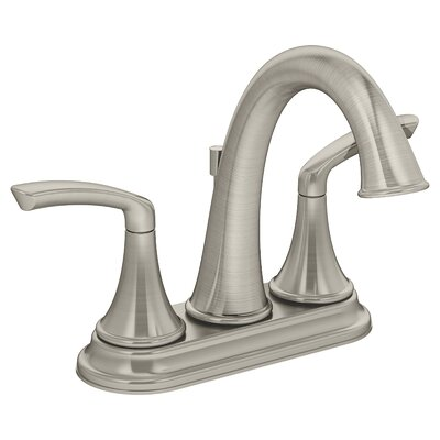 Elm Double Handle Centerset Faucet Finish: Satin Nickel, Flow Rate: 2.2 GPM