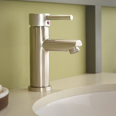 Dia Single Handle Single Mount Faucet Flow Rate: 1.5 GPM, Finish: Satin Nickel