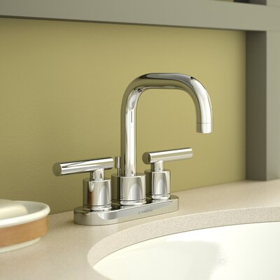 Dia Double Handle Centerset Faucet Finish: Chrome