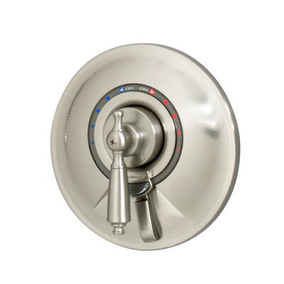 Allura Tub and Shower with Lever Handle Finish: Satin Nickel