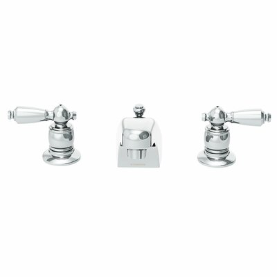 Symmetrix Double Handle Widespread Lavatory Faucet with Drain & Lift Rod Finish: Chrome, Flow Rate: 1.5 GPM