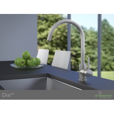 Dia Single Handle Single Mount Faucet with Rigid/Swivel Spout Flow Rate: 2.2 GPM, Finish: Satin Nickel