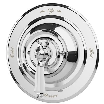 Carrington Shower Valve Trim with Metal Lever Handle Finish: Chrome
