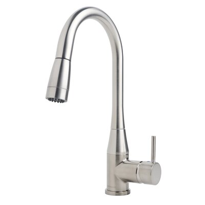 Sereno Single Handle Deck Mounted Kitchen Faucet Finish: Stainless Steel, Flow Rate: 2.2 gpm