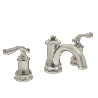 Winslet Double Handle Deck Mounted Widespread Bathroom Faucet Finish: Satin Nickel