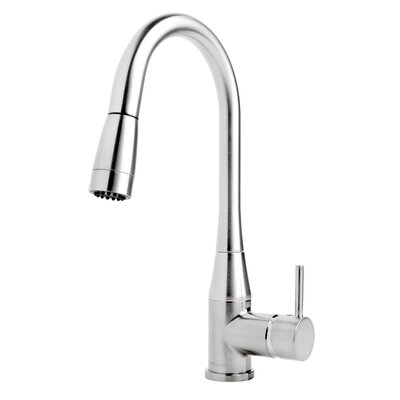 Sereno Pull Down Single Handle Kitchen Faucet Finish: Chrome, Flow Rate: 2.2 gpm