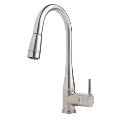 Sereno Single Handle Deck Mounted Kitchen Faucet Finish: Satin Nickel, Flow Rate: 1.5 gpm