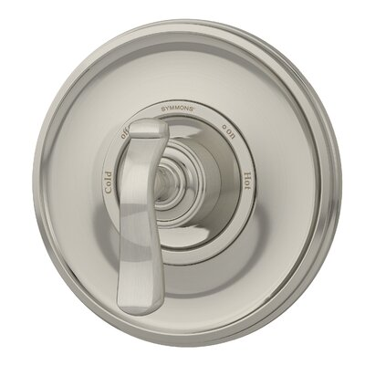 Winslet Pressure Balance Shower Valve with Metal Lever Handle Finish: Satin Nickel