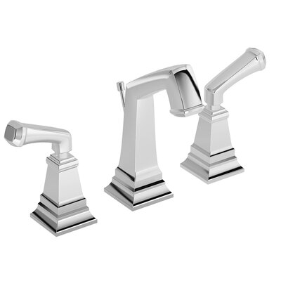 Oxford Double Handle Deck Mounted Widespread Bathroom Faucet Finish: Chrome