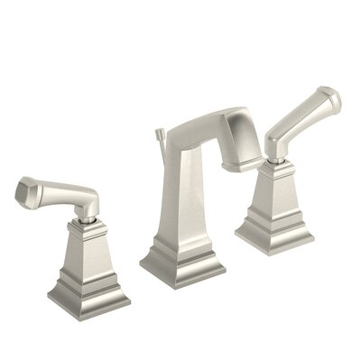Oxford Double Handle Deck Mounted Widespread Bathroom Faucet Finish: Satin Nickel