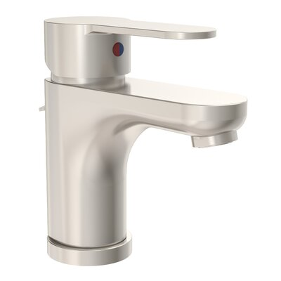 Identity Standard Bathroom Faucet Single Handle with Drain Assembly Finish: Satin Nickel
