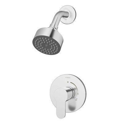Identity Shower Faucet Trim Kit with Metal Lever Handle Finish: Chrome
