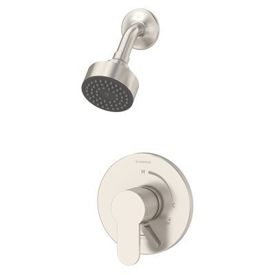 Identity Shower Faucet Trim Kit with Metal Lever Handle Finish: Satin Nickel