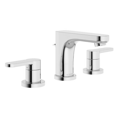 Identity Bathroom Faucet Double Handle with Drain Assembly Finish: Chrome