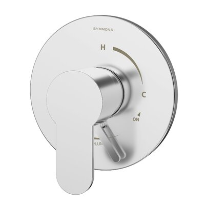 Identity Pressure Balance Shower Valve with Metal Lever Handle Finish: Chrome