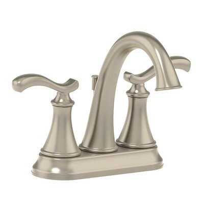 Sophia Centerset Bathroom Faucet Double Handle with Drain Assembly Finish: Satin Nickel