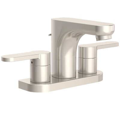 Identity Bathroom Faucet Double Handle with Drain Assembly Finish: Satin Nickel