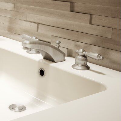 Origins Double Handle Widespread Bathroom Faucet Finish: Satin Nickel, Flow Rate: 1.5 GPM