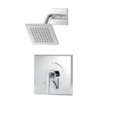 Duro 1-Handle Shower Valve Faucet Trim Kit with Square Showerhead and Lever Handle