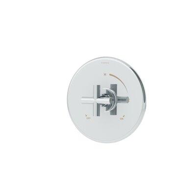 Dia 1-Handle Pressure Balancing Valve Faucet Trim with Knob Handle