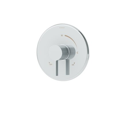 Dia Single-Handle Pressure Balancing Thermostatic Faucet Trim with Lever Handle