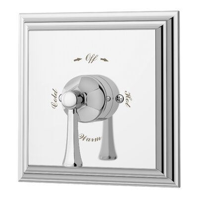 Canterbury Tub and Shower Valve with Metal Lever Handle Finish: Chrome