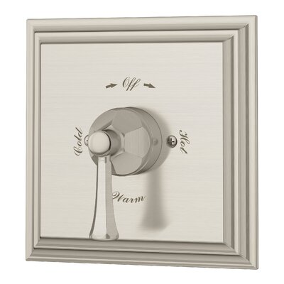 Canterbury Tub and Shower Valve with Metal Lever Handle Finish: Satin Nickel